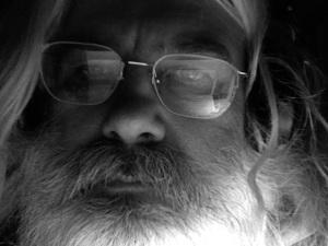 black & white photo of the poet